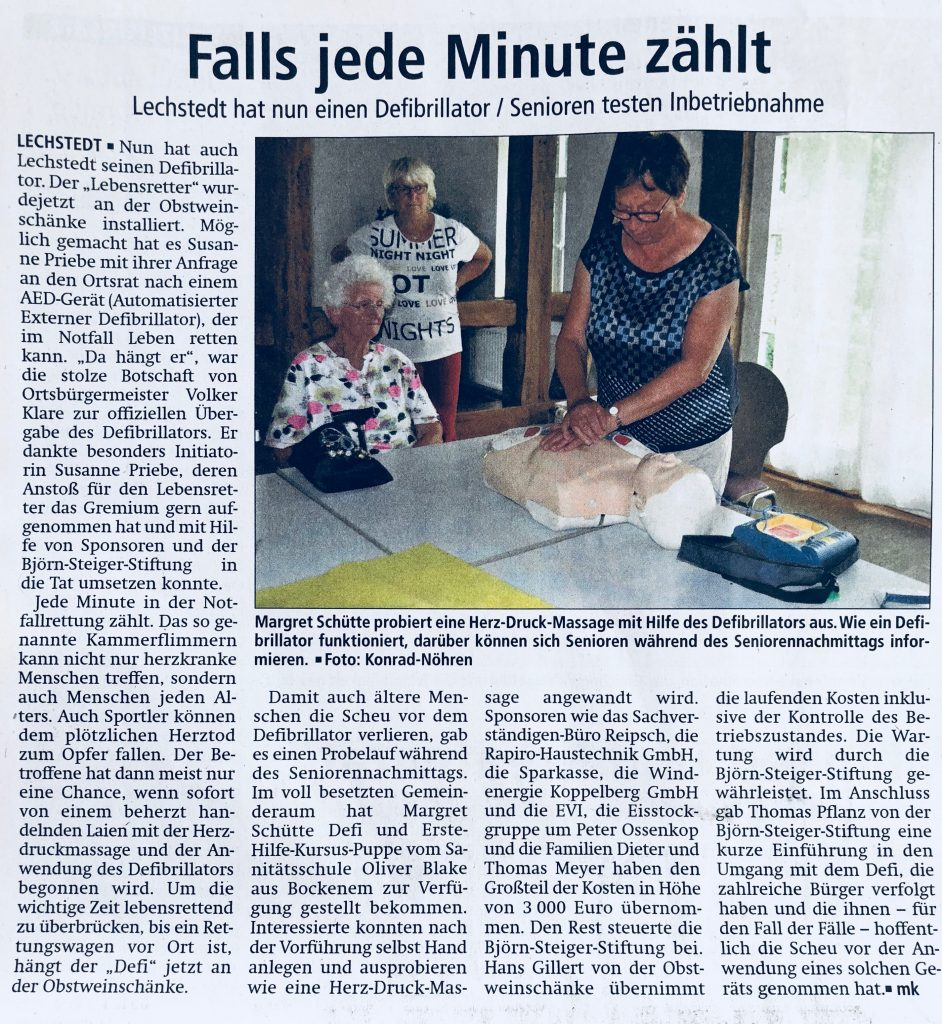 Pressespiegel – lechstedt.de